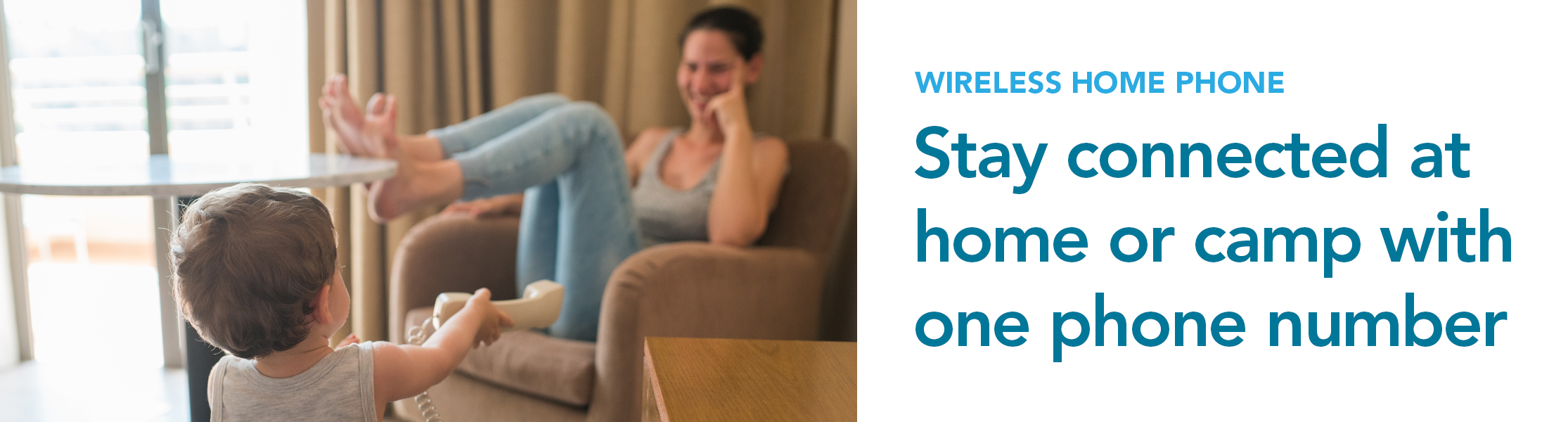 Stay connected at home or camp with one phone number