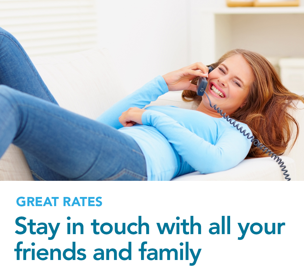 Stay in touch with all your friends and family